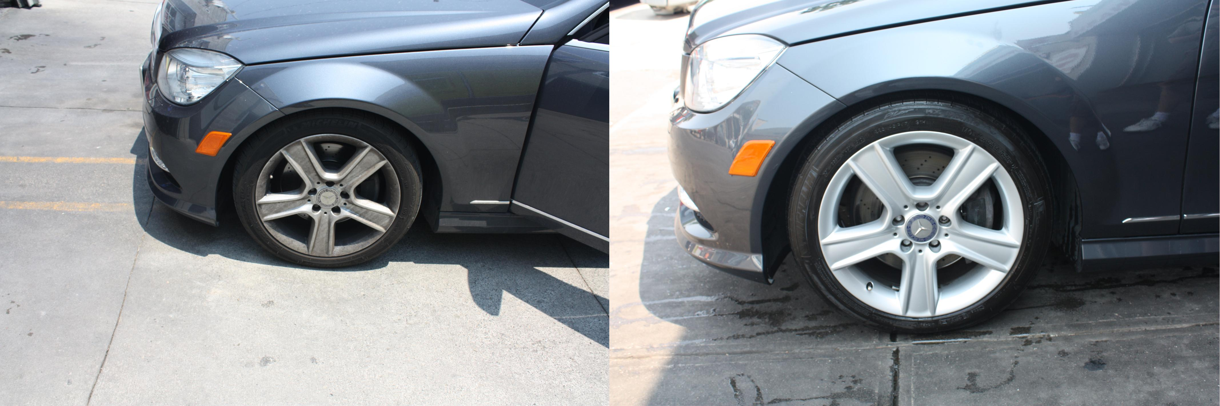 benz rims before after